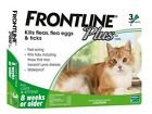 Frontline Plus For Cat (8 Weeks or Older) 3 MONTHS (Doses) Flea Tick Control