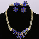 Bridal Wedding Party Jewelry Set Crystal Rhinestone Diamante Necklace & Earrings