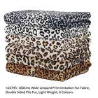 Neotrims Leopard Animal Print Fur Fabric,Light Soft Pile, Crafts,Throws,Blankets