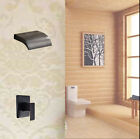 Wall Mounted Waterfall Shower Head Valve Mixer Tap Oil Rubbed Bronze Shower Set
