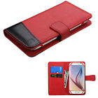 "Universal Cell Phone Cover Leather Flip Wallet Case Pouch Folio Size 4.7""- 5.2"""
