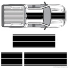 Ford F-150 F-250 F-350 Dual Rally Racing Stripes 3M Vinyl Double Stripe Decals