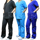Medical Scrubs Set Women V-neck Top & Drawstring Pant Set ST101 Natural Uniforms