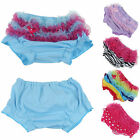 Newborn Baby Girls 0-2Y Cotton Lace Ruffle Nappy Diaper Cover Bloomers Panties