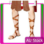 Spartan Greek Warrior Roman Sandals Egyptian Mens Footwear Costume Accessories