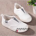 NEW Fashion Kid's BOYS GIRLS Slip On Sports Casual Canvas Sneakers Shoes
