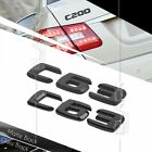 BLACK REAR BOOT TRUNK LETTER EMBLEM BADGE FOR W204 C CLASS C63 AMG STICK ON ABS