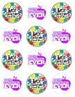 End of year teacher  Edible Cake Toppers Wafer or Icing cupcake x12 Decoration
