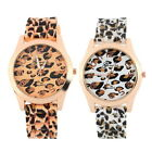 New Fashion Women's Leopard Print Pattern Silicone Band Quartz Wrist Watch HC
