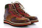 Mens Shoes DSQUARED2 Ankle Boots LA101 V234 5080 Winter Lace-Up Brown Leather D2