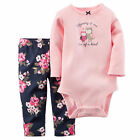 New Newborn Infant Baby Girls Clothes Autumn Long Sleeve Romper+Printed Pant Set