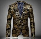 Luxury Mens Formal Floral Lapel Slim Fit High Quality Party Stylish Blazer Coats