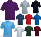 Mens Polo Shirt  Pique T-Shirt Top Size XS to 6XL NEW Classic Loose Fit  200gsm