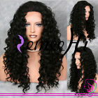 """14"""" ~ 20"""" Human Hair Full/Front Lace Wigs Malaysia Natural Curly Density150%"""
