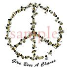 Give Bees a Chance Peace Art - Ladies Tshirts or Nightshirt 7687 honey bee