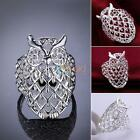 Men's Women's Silver Shiny Style Owl Ring Size 7-8 Jewelry Gift DBUS
