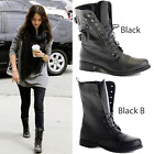 Kyпить LADIES WOMENS COMBAT ARMY MILITARY BIKER FLAT LACE UP WORKER ANKLE BOOTS SIZE на еВаy.соm