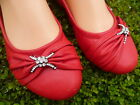 WOMEN'S RED FLAT SHOES VIA PINKY SIZE: 6
