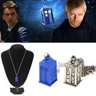 3D Hot Blue Bronze TARDIS Doctor Who Police Box Tall Pendant Necklace Jewelry US