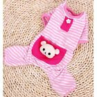 New Pet Puppy Dog Stripes Jumpsuit Pajamas Cat Dog Coat Clothes Apparel Costume