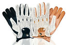 LEATHER CROCHET MEN'S UNLINED FASHION CLASSIC ENGLISH DRIVING GLOVES