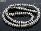 Hematite Gemstone Rondelle Spacer Beads 16'' 2mm 3mm 4mm 6mm 8mm Smooth FacetedStone - 179273