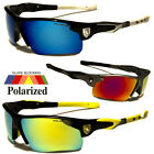 New Polarized Mirror Lens Mens Fishing Cycling Baseball Sport Wrap Sunglasses Us