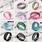 Fashion Rhinestone Leather Wrap Wristband Cuff Punk Crystal Bracelet Bangle New