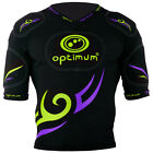 Optimum Tribal Five Pad Long Kids Adult Rugby Body Protection Black/Purple/Green