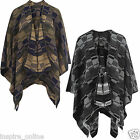 LADIES WOMENS PONCHO WARM CAPE BLANKET WINTER CARDIGAN KNITWEAR JUMPER SWEATER
