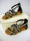 New Girls Black Sandal Gladiator Style with Straps and Bling Youth Size 11 & 12