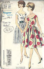 1961 Vintage VOGUE Sewing Pattern B34 DRESS & PETTICOAT (1473)