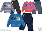 "BOY'S ""TAM TAM"" 2PC FLEECE LINED JOGGERS/JOGGING PANTS & SWEAT SHIRT/TOP 3-18"