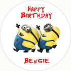 Personalised Minions Despicable Me Party Cake Cupcake Toppers