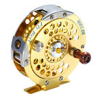 Sturdy Aluminum 1:1 Right-Handed Fly Ice Fishing Reels Gold Disk Fly Reel Wheel