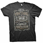 Vintage Aged To Perfection 1958 - Distressed Print - 57th Birthday Gift T-shirt