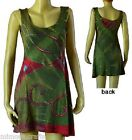 UC- 76 Nepalese Funky Embroidered & Patched Tie Dyed 100% Cotton Women's Dress