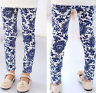 2015 Kids Toddler Girls Leggings Pants Floral Printed Trousers Size 3-7Y Style 8
