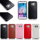 Hybrid Rugged Leather TPU Rubber Gel Cover Case for Samsung Galaxy S6 /S6 Edge