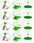Golfing Golfer Golf sport Edible Toppers Wafer/Icing cupcake x 12 Decoration
