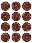 Roulette Game  The Casino  Edible Toppers Wafer/Icing cupcake x 12 Decoration