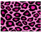 """Pink Leopard Print Edible Cake Topper Wafer or Icing 7 1/2"""" x 10""""Cake Decoration"""
