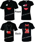 Mickey and Minnie  Holding hands Couple matching funny cute TShirt S-4XL