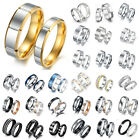 Titanium Stainless Steel Ring Silver Black Gold Men Women Size 7 to 13