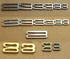 Metal Lingerie Bikini S Replacement hoops Bra strap Adjustment 9 Hooks Clasps