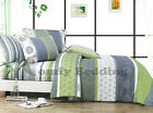 Serene 100% Cotton Bedding Set: Duvet Cover Set or Sheet Set, All Sizes