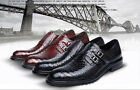 Real Leather Hot Mens Fashion Breathable Buckle Strap Business Casual Shoes Size