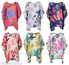 Womens Floral & Butterfly Print Kimono Style Top Shirt Tees Blouse Chiffon New