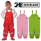 OCEAN Kids Dungarees Girls Boys Over Trousers Rainwear Childrens Casual Overalls