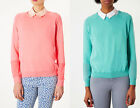Topshop fine gauge knit cotton jumper~Coral pink or aqua green~8-10-12~New